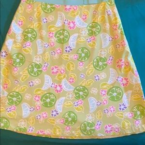 Vintage Lilly Pulitzer skirt, lined, citrus